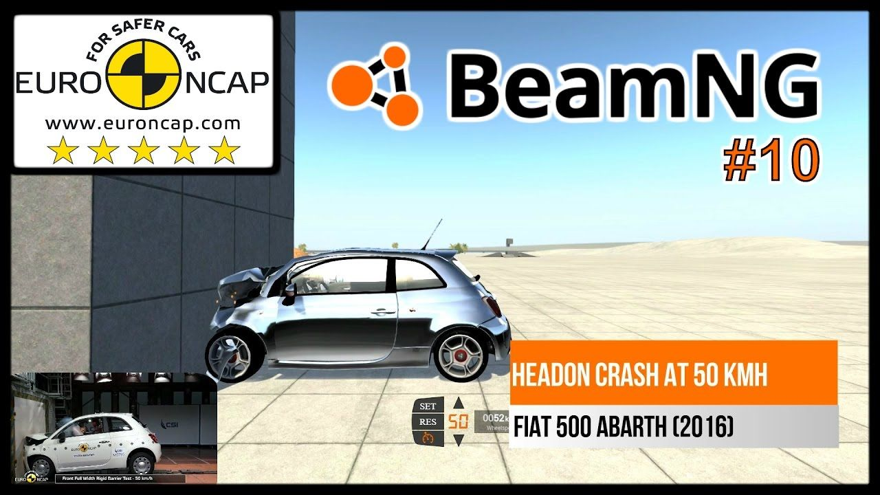 Beamng Drive Ncap Crash Compilation 10 Crash Driving Fiat 500