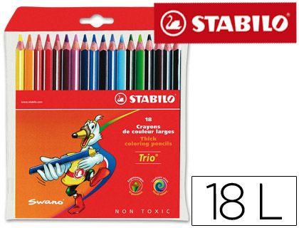 Lapices De Colores Stabilo Trio Caja De 18 Colores Lapices De Colores Colores Stabilo Lapices