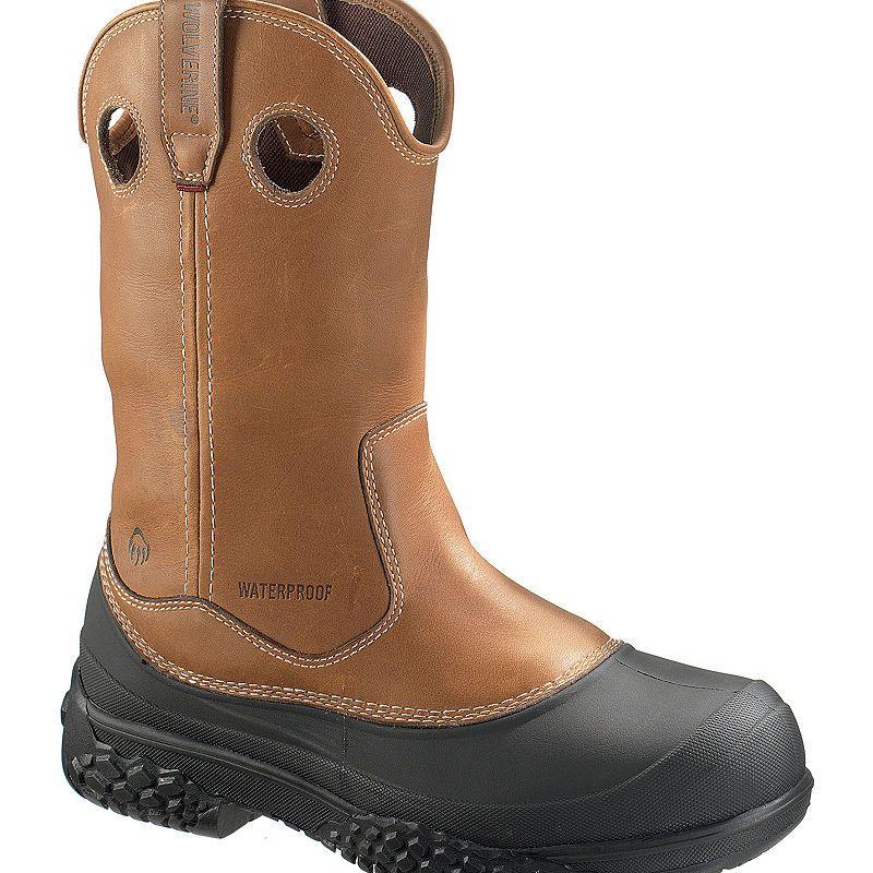 bd9539bd24c Wolverine Mens Swamp Monster Waterproof Slip Resistant Steel Toe ...