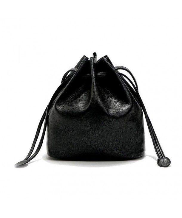Damentaschen, Hobo-Taschen, Bauhausstil Basic Soild Color Drawstring Bucket Cross ...