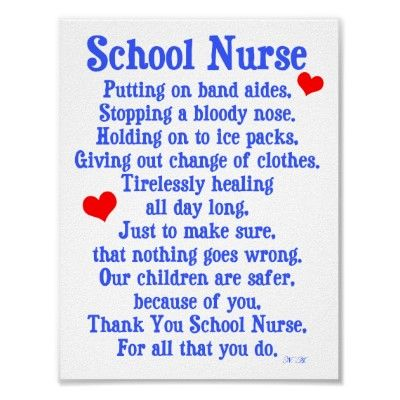 School Nurse Poster | Zazzle.com | School nurse office, Nurse ...