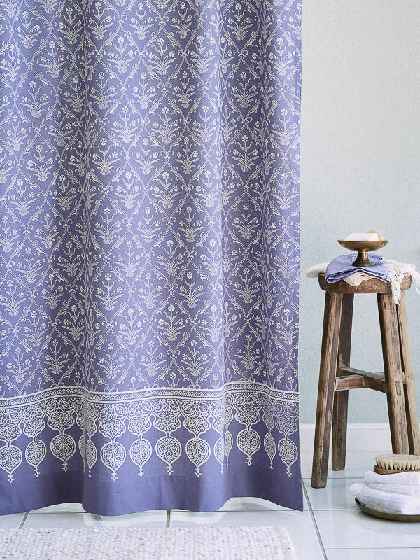 Victorian Lilac Purple Floral Boho Lavender Shower Curtain In