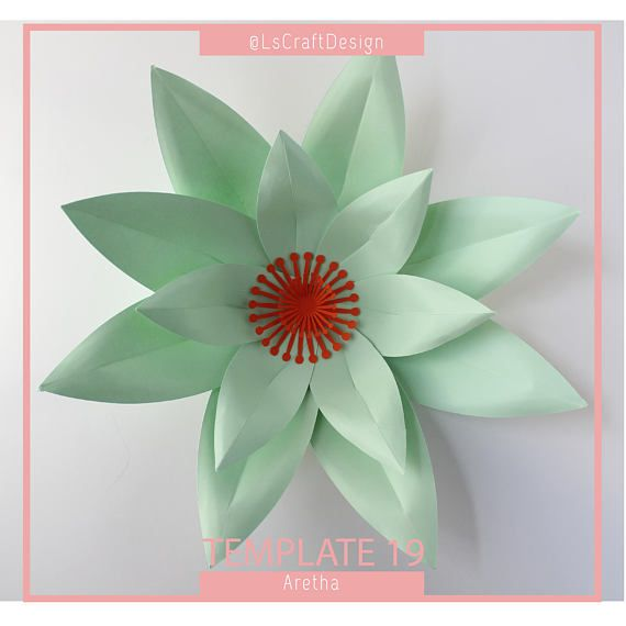Paper Flower Template, DIY Paper Flower, DIY Giant Paper Flower ...