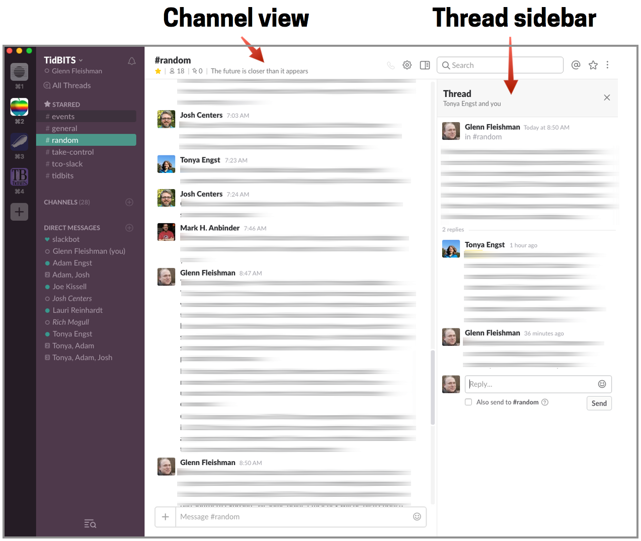 Group conversations slack app threads App, Slacks