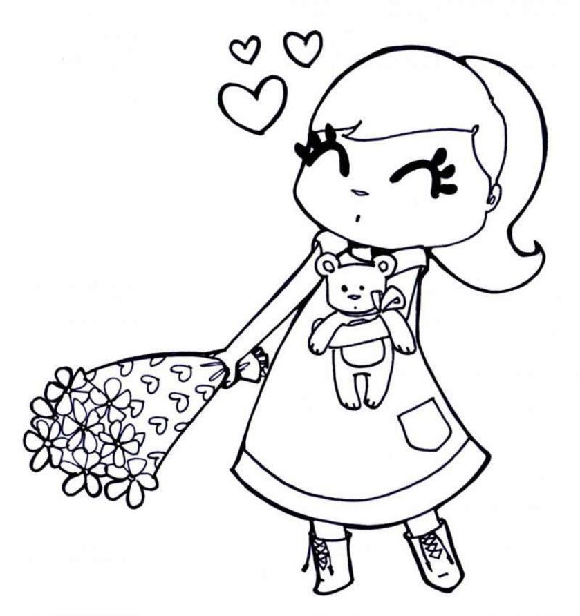 coloring pages for girls - Girl Colouring Page