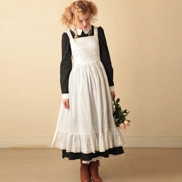 ドレス(ローンのエプロンドレス)   エクサントリーク(EXCENTRIQUE)   ファッション