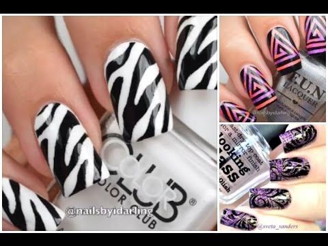 Unhas Decoradas Ideias Rápidas de 3 Designs Vídeo 132 - YouTube