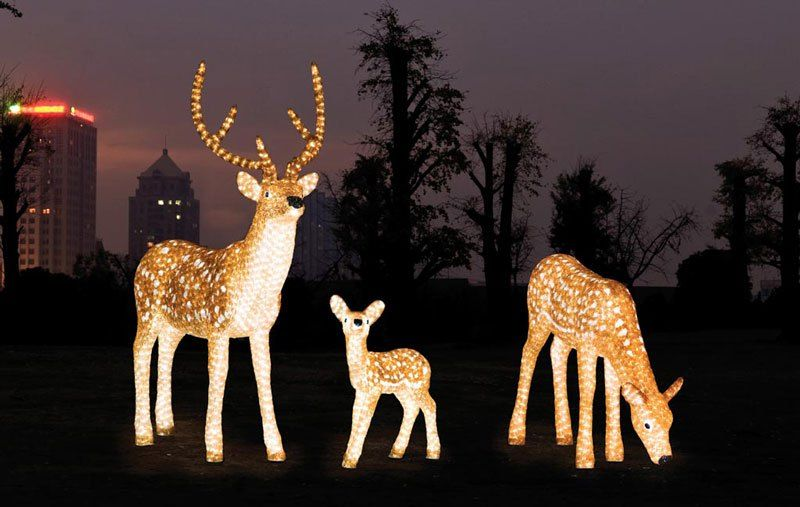 Outdoor Christmas Display Life Size Led Acrylic Santa Sleigh And Reindeer For Ping Center Xmas Light Displays Find Complete Details About