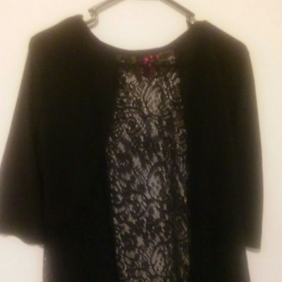 Black sheer layer The back middle is sheer. Very thin and comfy Tops
