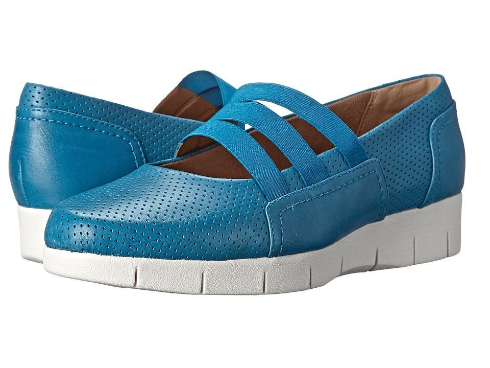Womens Shoes Clarks Daelyn City Turquoise Leather