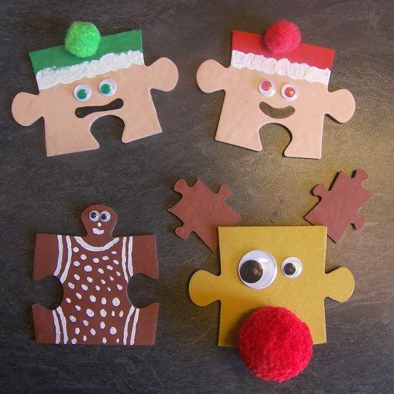 Transformez vos vieux puzzles en décorations de Noël !