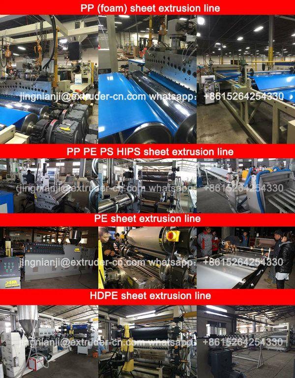 PP PS HIPS PE HDPE etc Plastic Sheet Extrusion Machine