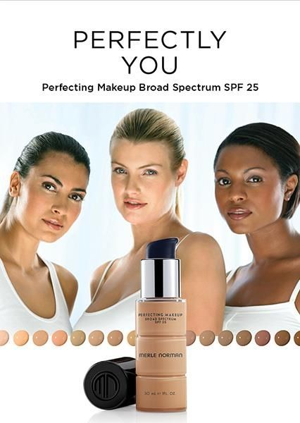Merle Norman S Perfecting Makeup Broad Spectrum With Spf 25 High Def 3 D Pigments Gives You An Airbrushed Perfect Makeup Body Skin Care Skin Care Hair Care