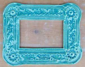 Blue ceramic Frame