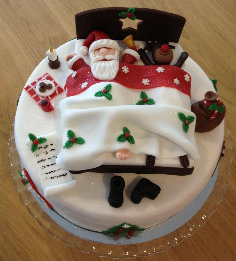 Santa Claus Sleeping 1 Navidad Christmas Pinterest