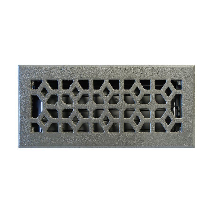 Allen Roth 4 In X 10 In Pewter Floor Register At Lowe S Canada Flooring Black Floor Cast Iron