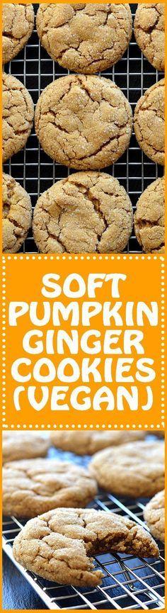 SOFT Pumpkin Ginger Christmas Cookies Recipes in 2018 Pinterest