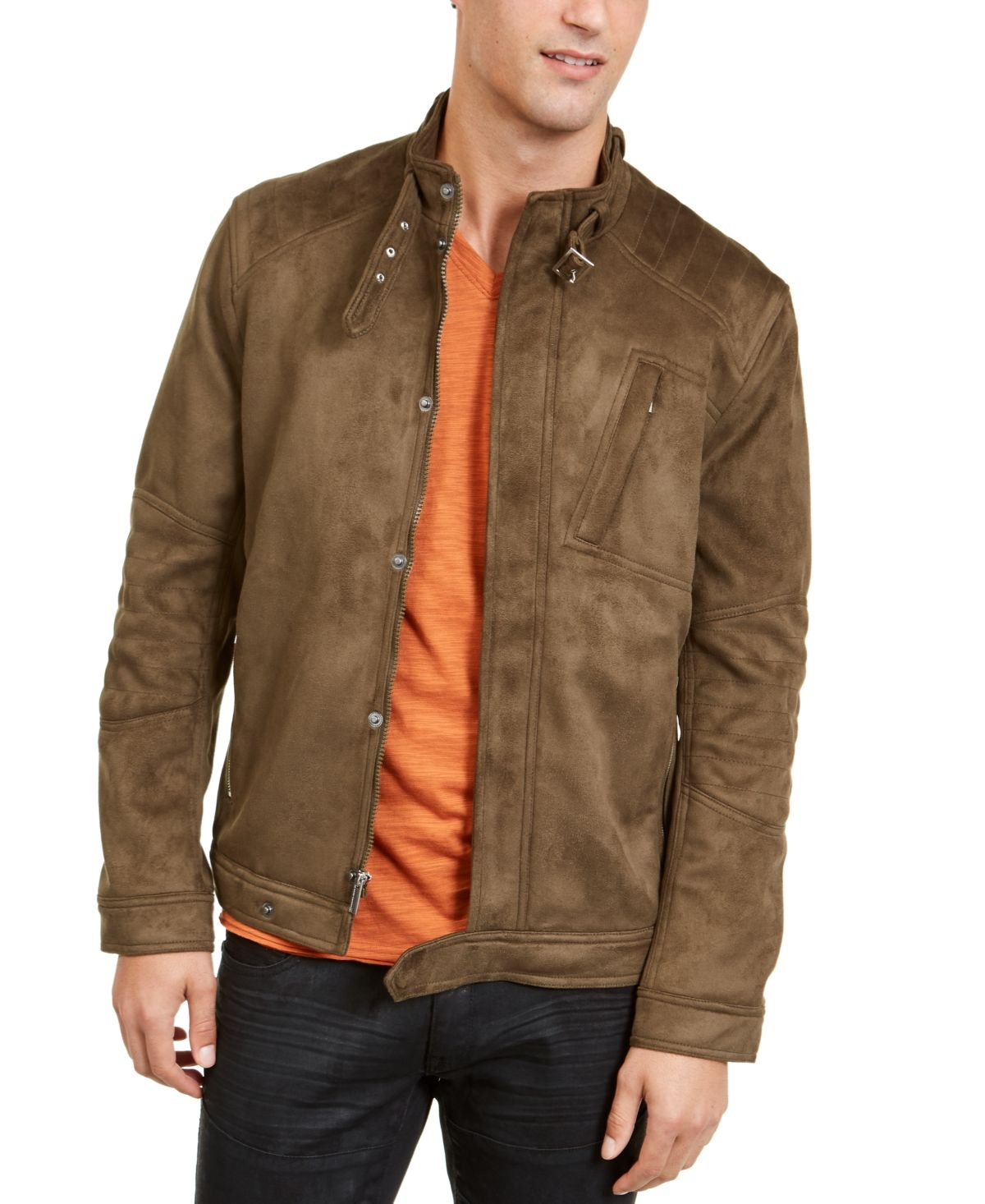 I.n.c. Men's Faux Suede Jacket, Created For Macy's Inc