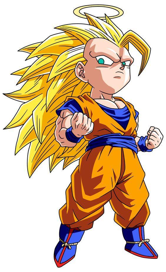 Cute Little Super Saiyan 3 Goku 3 Dbz Dragon Ball Goku Dragon
