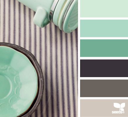 Grises y verde menta paletas de color color palete for Paleta colores gris