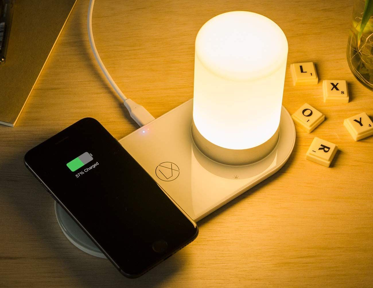Lxory Wireless Charging Lamp Provides Power And Light Wireless Charging Lamp Mood Lamps Wireless Charging Pad