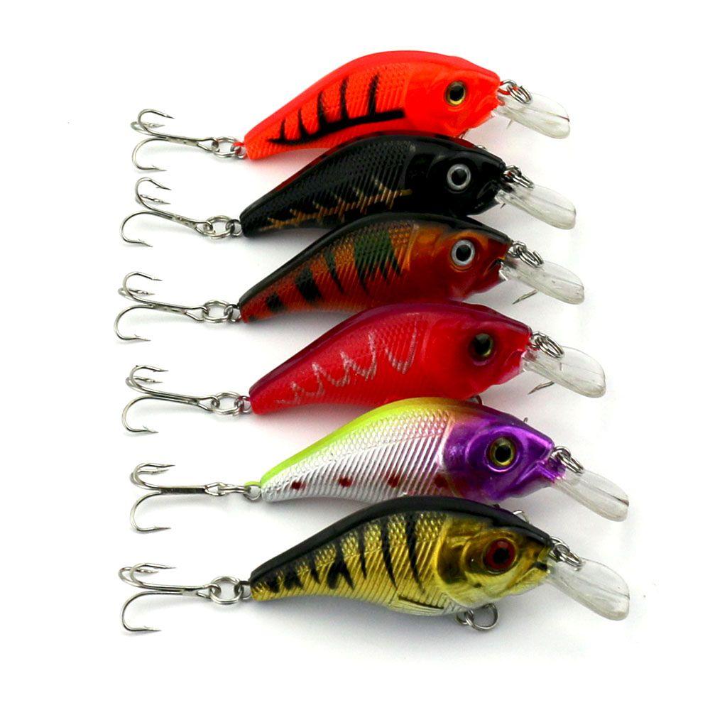 30pcs/lot Fishing Lures Tackle Crankbaits Plastic Hard Lure Wobbler ...