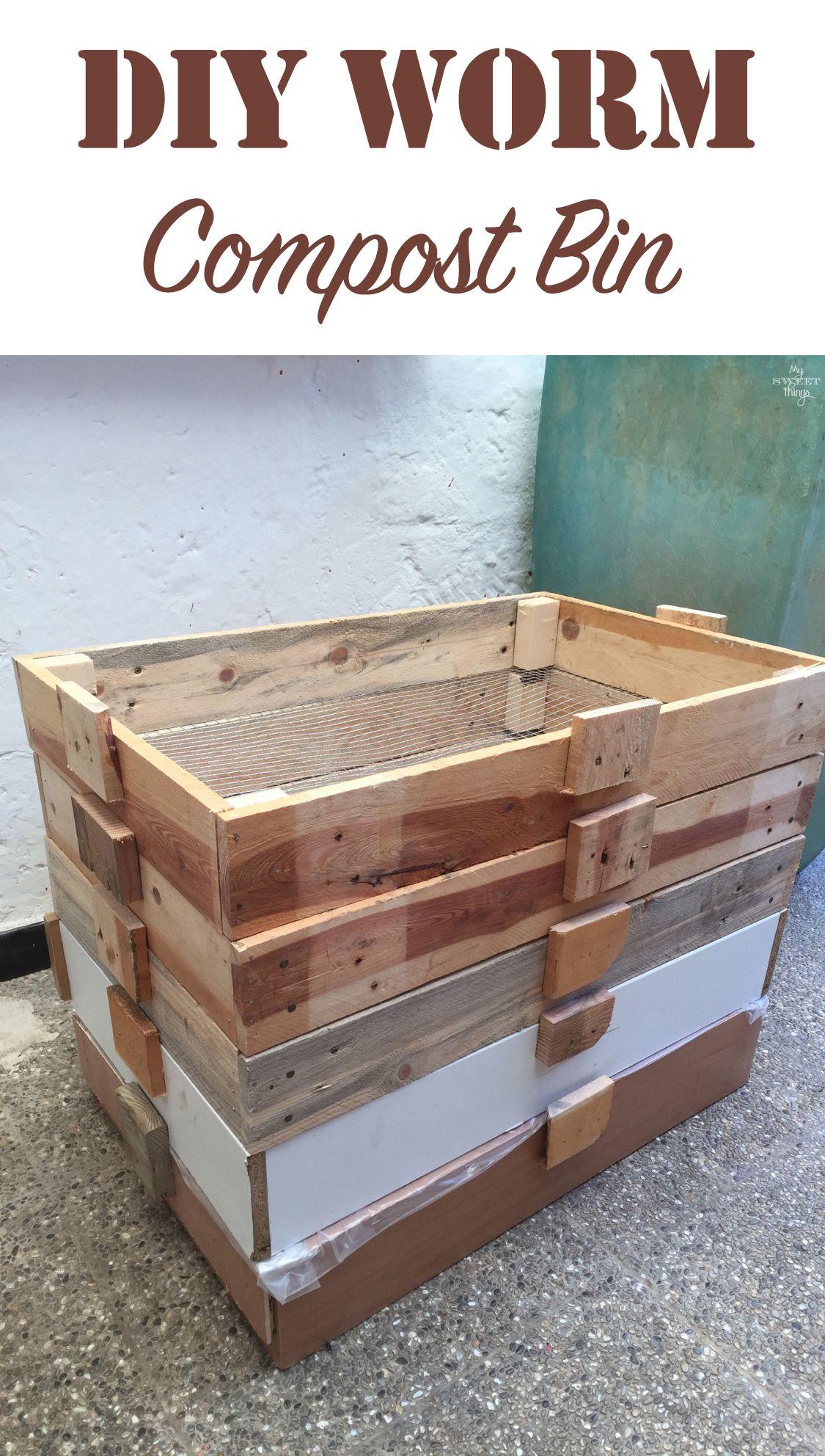 Diy Worm Compost Bin For Vermicomposting Pallet Wood