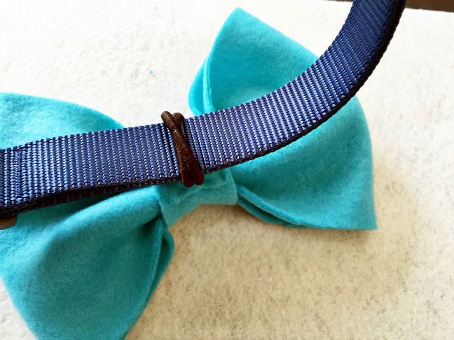 Diy Collar Bows And Bow Ties For Dogs