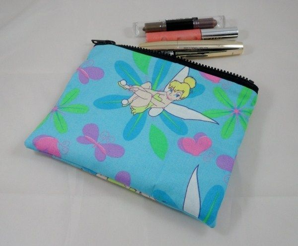 Tinkerbell Fairy Fabric Make Up Bag or Pencil Case - Free P £7.50