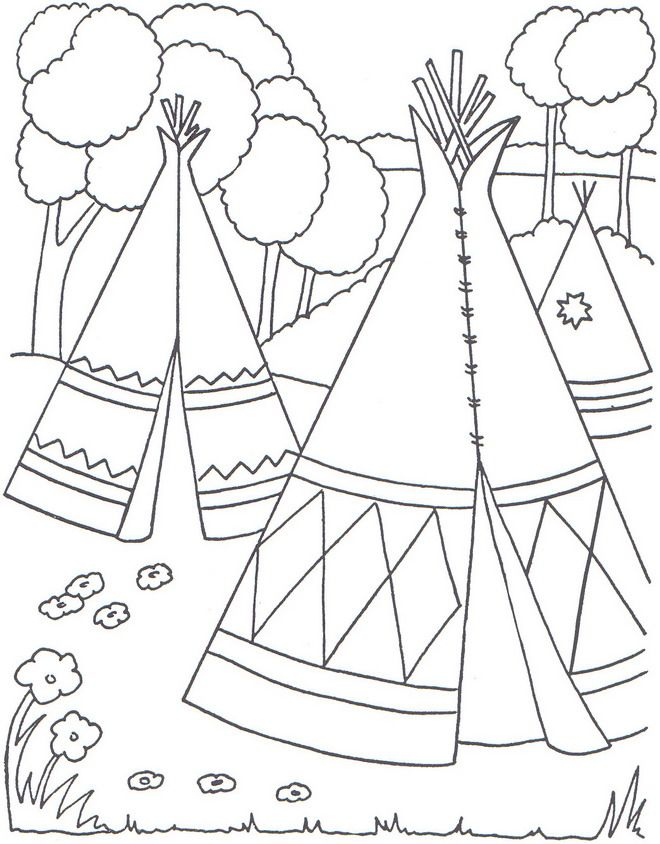 Coloring page Native Americans Native Americans on Kids-n-Fun.co.uk ...