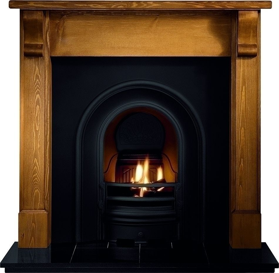 Cast Iron Fireplace Black Arch Insert In Home Furniture Diy