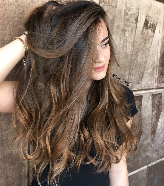 balayage dark brown long hairstyles | hair & beauty | pinterest