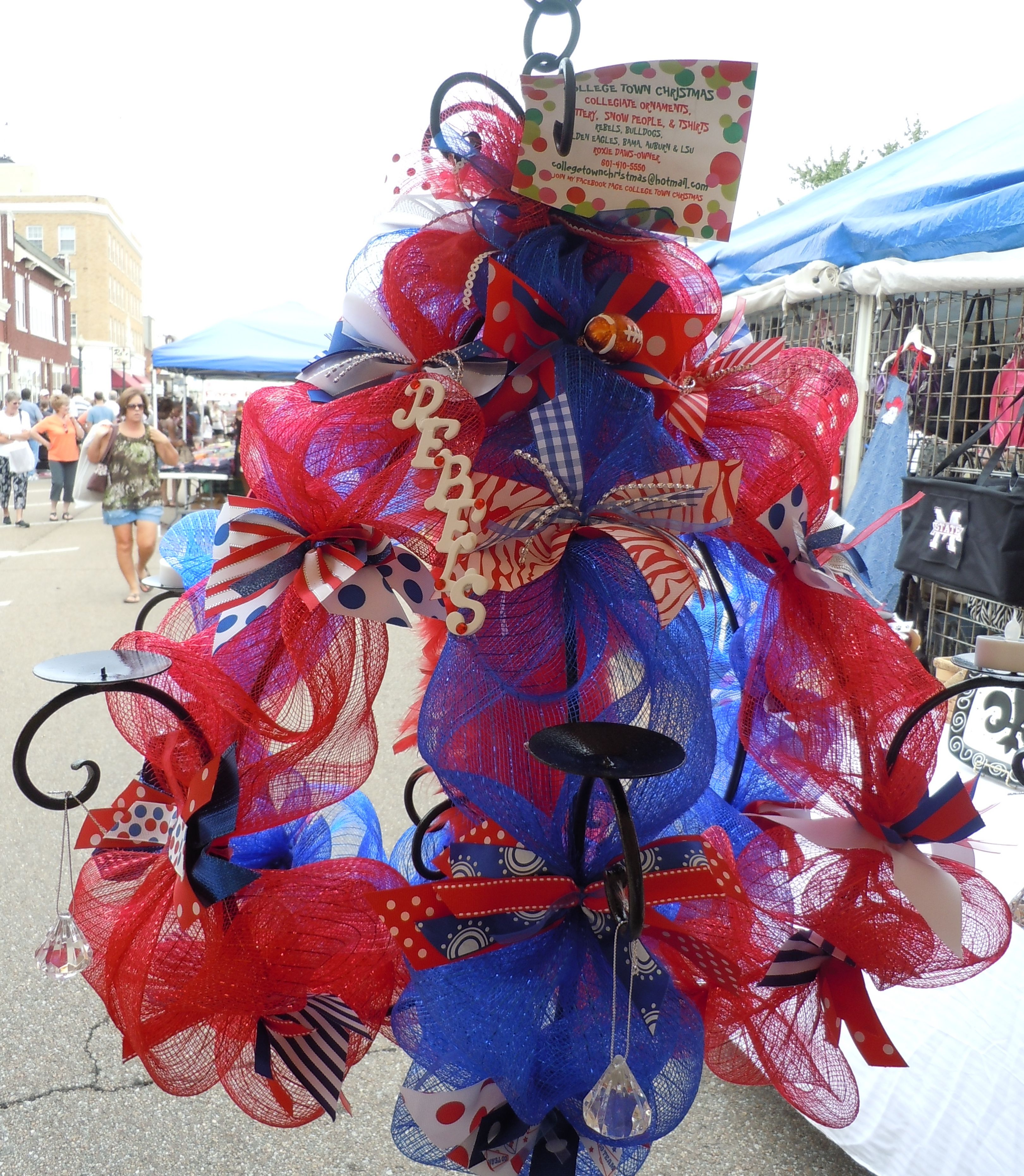 Ole miss chandelier roxie pinterest tailgating and crafts tailgate fanatics ole miss chandelier for tent arubaitofo Image collections