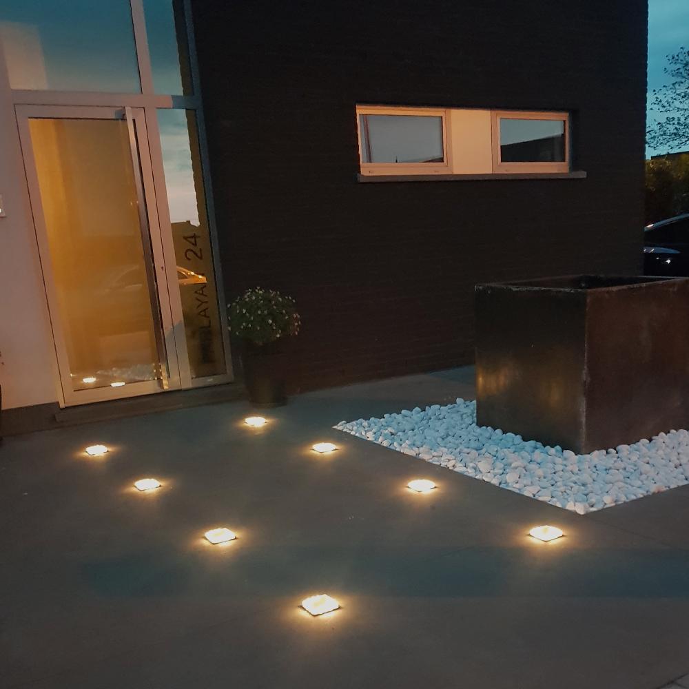 Solar Grondspot Square Op Zonne Energie Solar Tuinverlichting Tuinverlichting Buitenverlichting