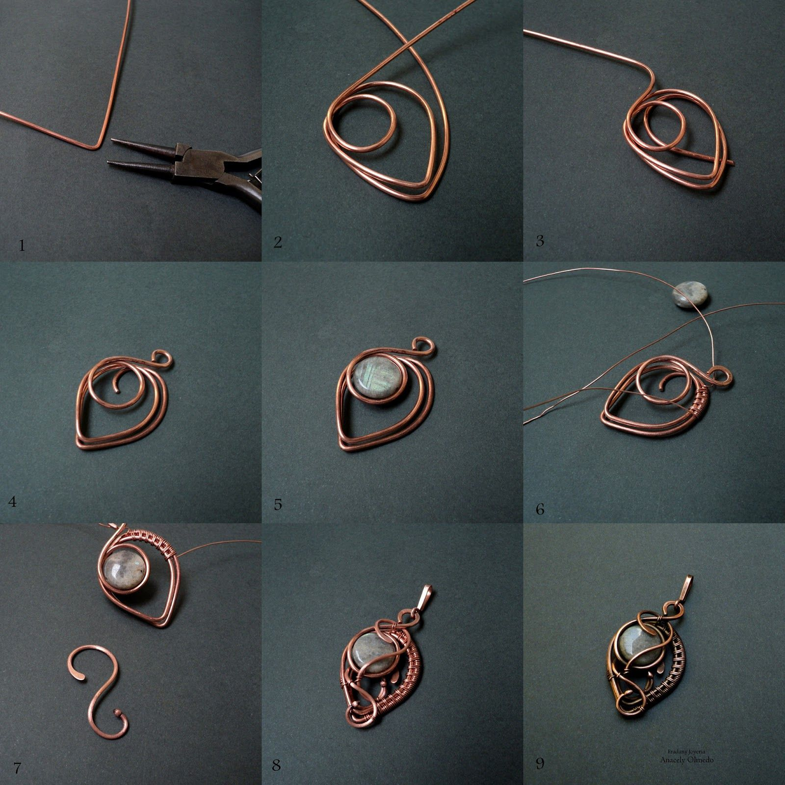 Fradany tutorial hanging idea to practice wire wrapped diy jewelry picture wire jewelry tutorial pendant with beads or could be used for earrings baditri Images
