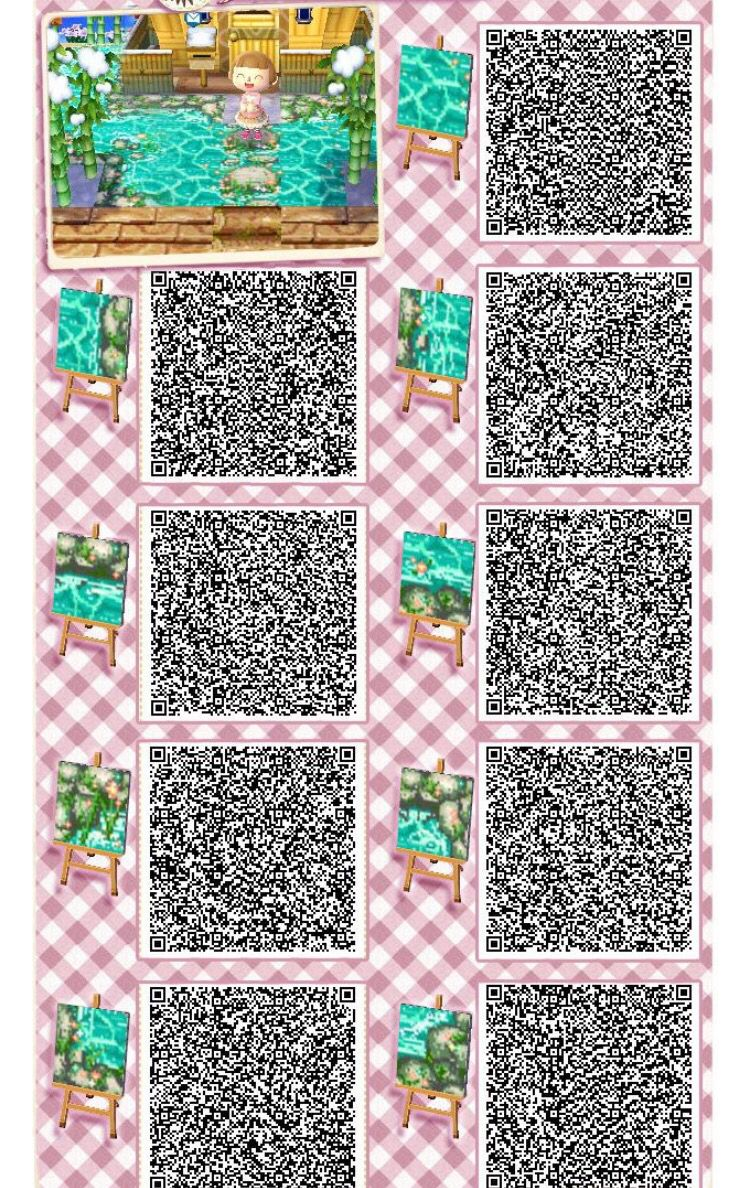 Animal Crossing Cute Water Qr Codes Animalcrossingtho