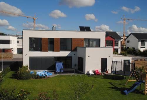 Passivhaus fertighaus  Passivhaus, Fertighaus mit Holzelementen und integriertem Anbau ...