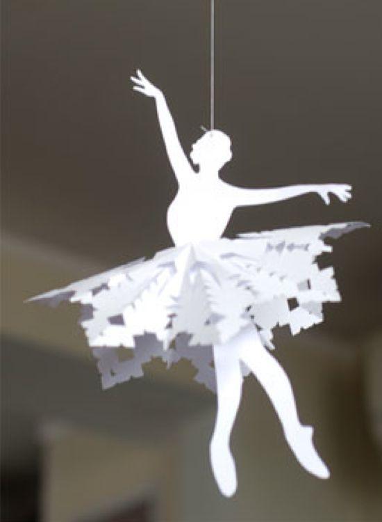 Decorazioni Natalizie Ballerine.Paper Ballerina Snowflakes Progetti Da Provare Decorazioni Di