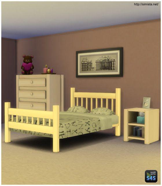 Bedroom by Simista Schlafzimmer, Bett ideen, Sims 4 cc möbel