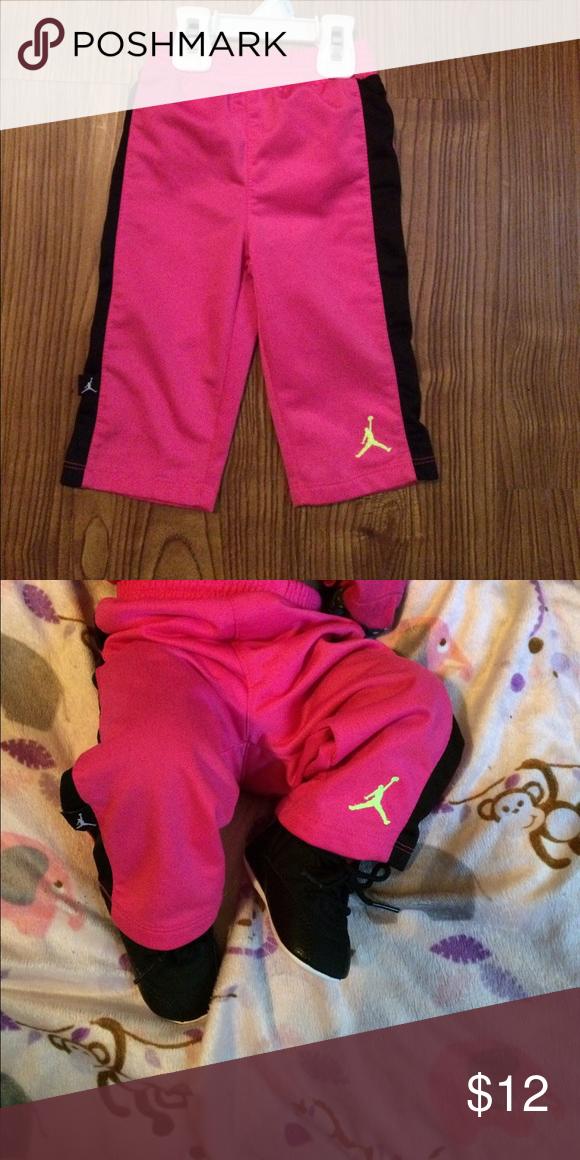 eb1c93c2ca4208 Jordan track pants Jordan track pants pink and black authentic gently worn  Jordan Bottoms Sweatpants   Joggers