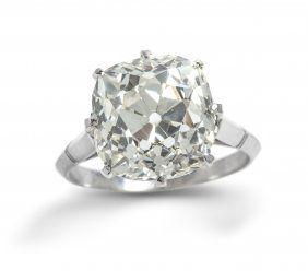 edwardian platinum  Leslie hindman auction. $50000.opening bid price.  9.09ct Colour I. VS1