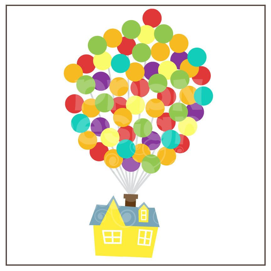 House Of Balloons Free For Deluxe Members House Of Balloons Disney Scrapbook Disney Up House