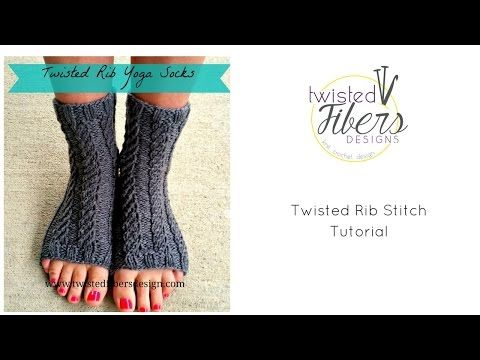 free yoga sock knitting pattern with how-to video | CALCETINES Y ...