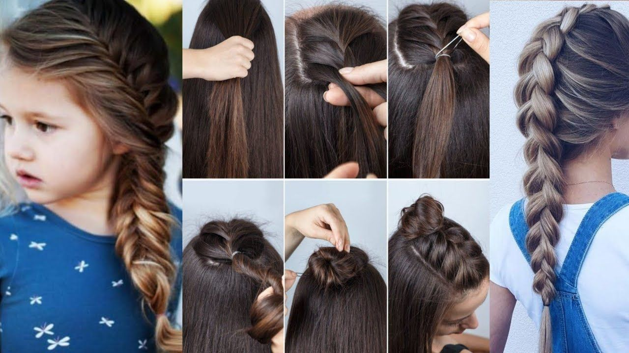Easy Wedding Party Hairstyles Hair Style Girl Hairstyles For Girls Cute Hairstyles 2019 Gaya Rambut Gaya Rambut Pesta Gaya Rambut Simpel