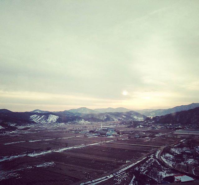 #한국 #산 #하늘 #눈 #view #sky #