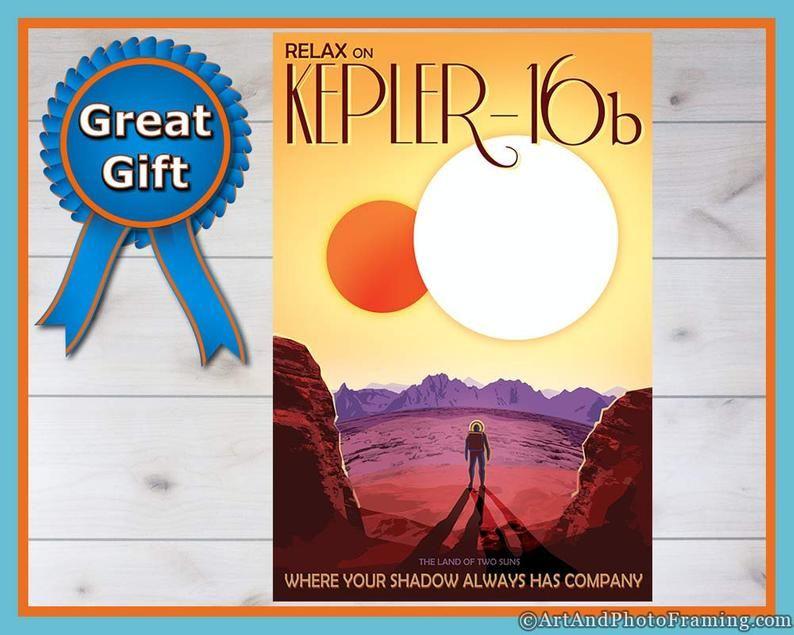 Kepler-16b NASA Space Tourism Space Print Poster