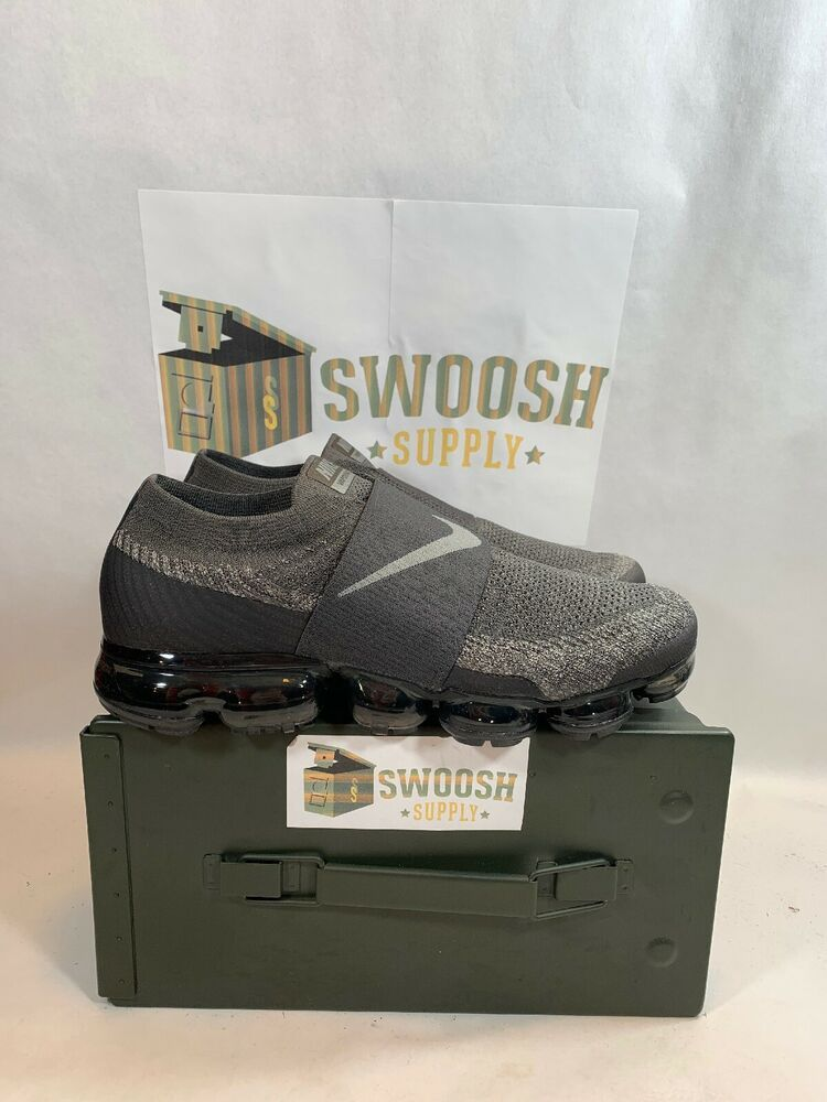 d5ce6f8274498 Nike Air Vapormax Flyknit Moc Midnight Fog Stucco Grey Size 9.5 Rare AH3397- 013  Nike  RunningShoes