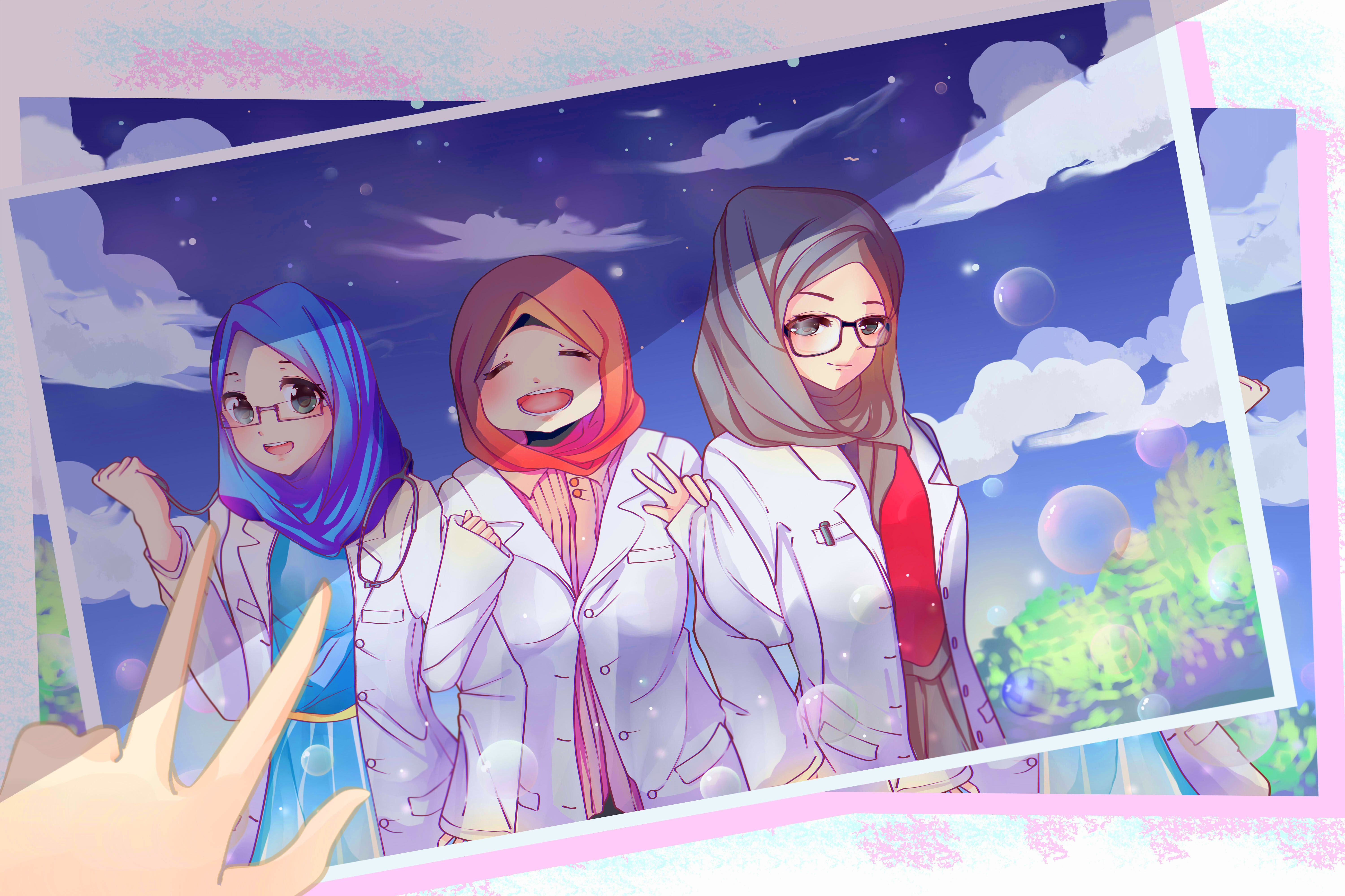 My First Time Draw Characters With Hijab Ah I Need More Of Learning It S Commission Btw Xd Digital Fanart Hijab Docto Fan Art Fan Art Drawing Character