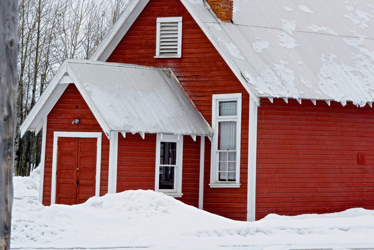 Red building in the snow. | Learn more about printing your high quality photography at prolabdigital.com!