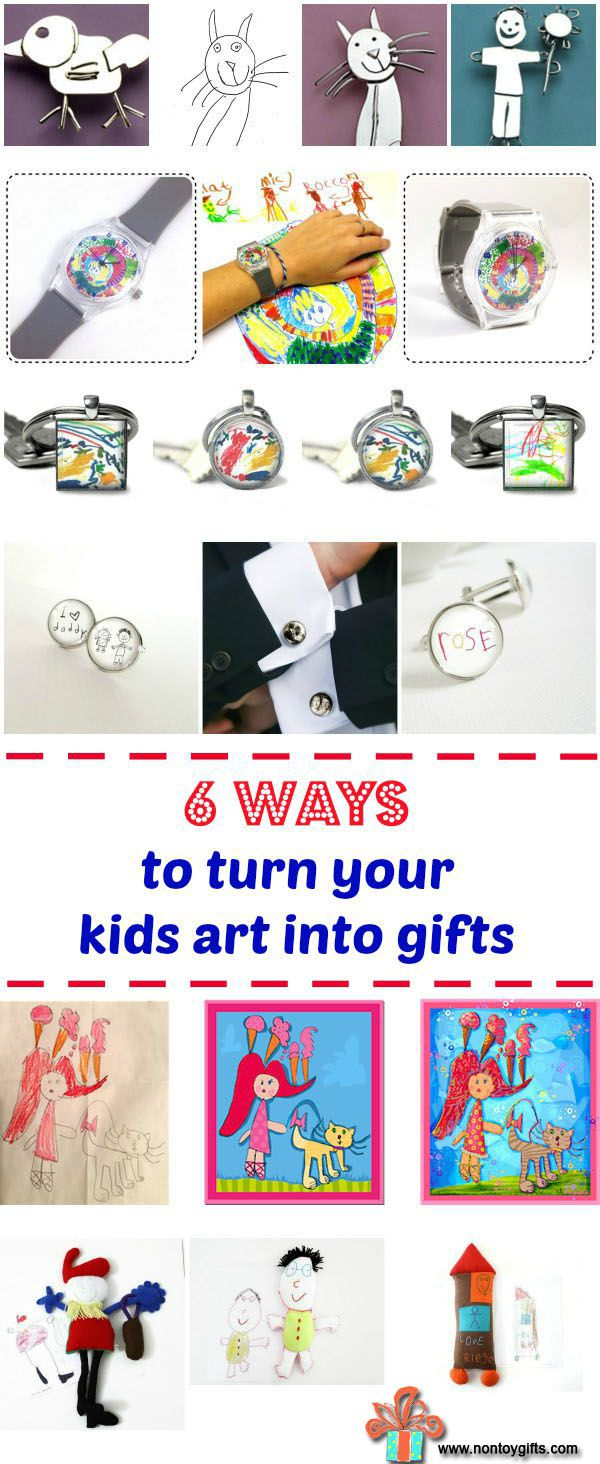 23 Ways to Turn Your Kids Artwork into Gifts | Pinterest | Christmas ...